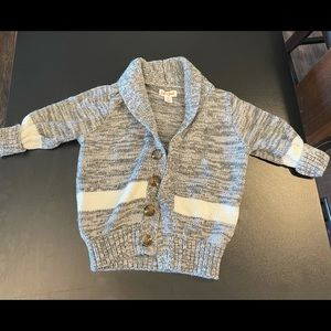 Gray and white 2T sweater.